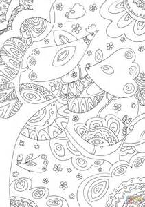 coloring pages of birds in trees trees and birds coloring page free printable coloring pages