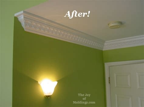 crown molding in bedroom before after ornate crown molding in master bedroom