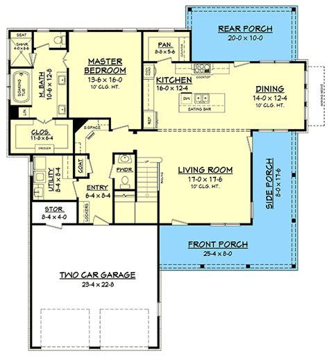 Modern Farmhouse Plans Flexible Farm House Floor Plans | exclusive modern farmhouse plan with flexible upstairs
