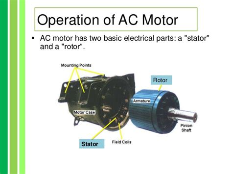 parts and function of electric motor advantages and disadvatages of ac dc motor
