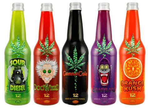 weed drinks product package design canna cola medical marijuana soda