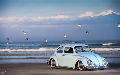 volkswagen beach vw on the beach wallpapers volkswagen beetle wallpaper