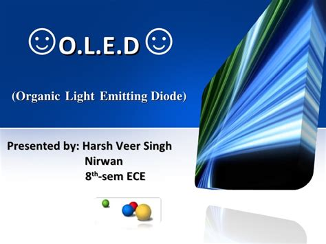 light emitting diode working ppt oled ppt
