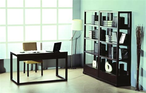 Bookshelves For Home Office by Wenge Finish Contemporary Home Office W Desk Bookcases