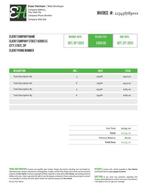 38 invoice templates psd docx indd free download