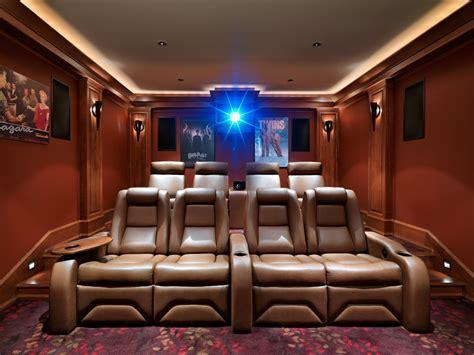 delightful Craftsman Style Home Interior #3: Diy-home-theater-seating-home-theater-craftsman-with-screening-room-movie-posters-stadium-seating-1.jpg