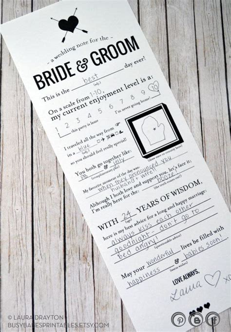 mad libs for wedding guests wedding mad libs printable note for the and groom
