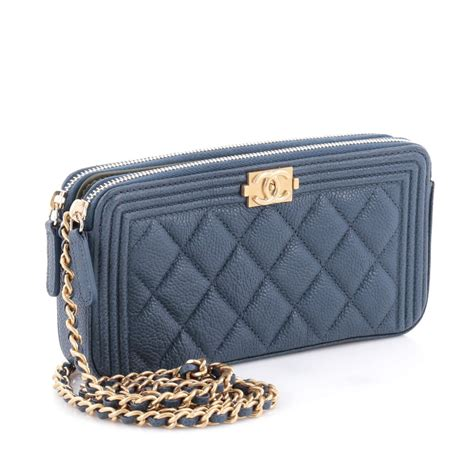 Clutch Chanel Woc Zip Caviar Hitam Ac33819 1 buy chanel boy zip around wallet on chain quilted 2115401 trendlee