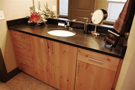 Knotty Alder Bathroom Vanity Rivermill Cabinets And Woodworks Inc