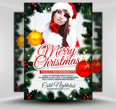 free xmas flyer template psd