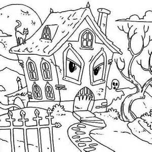 free coloring pages monster house spooky scary haunted house coloring page haunted house