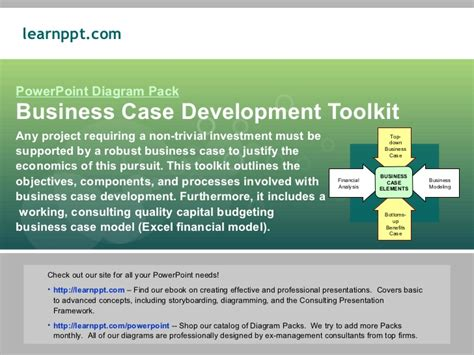 business case ejemplo business case development toolkit with excel model