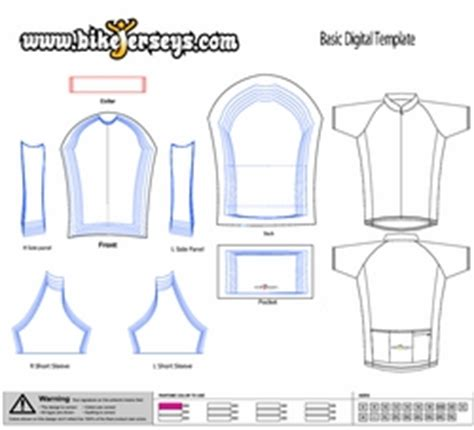 Cycling Jersey Pattern Download | rush print custom jerseys