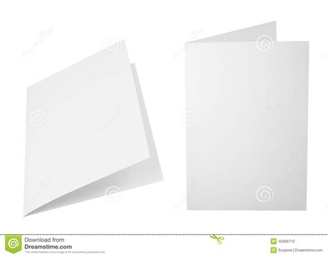 Folding A4 Paper - set of folded a4 paper sheets stock photo image 45908710