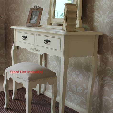 cream wood dressing table mirror set shabby french chic vintage vanity bedroom ebay