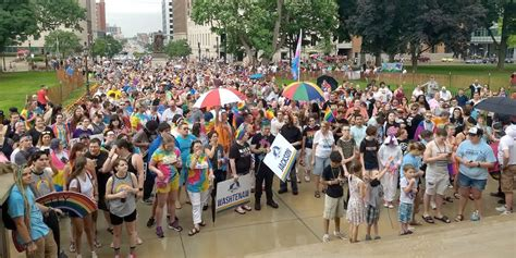 michigan pride festival parade  rally  june