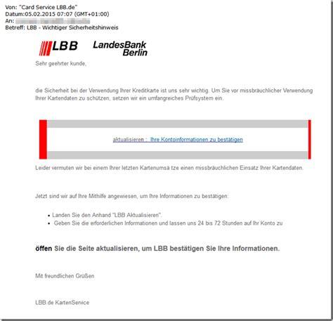 l bank adresse phishing e mail der landesbank berlin mit dem betreff