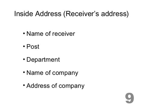 business letter no inside address important parts of letter 2013