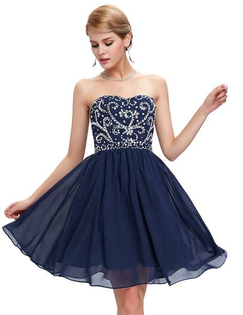 Short Navy Blue Prom Dresses   Dress FA