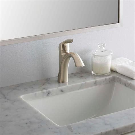 moen eva single hole single handle high arc bathroom faucet  brushed nickel single handle