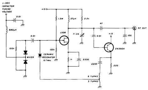 varactor diode tunable filter varactor diode fm transmitter 28 images index 30 signal processing circuit diagram seekic