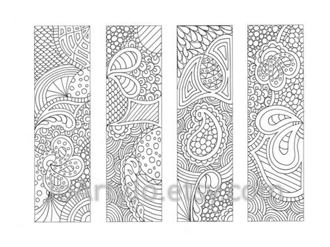printable bookmarks to colour pdf printable bookmarks coloring page zendoodle zentangle