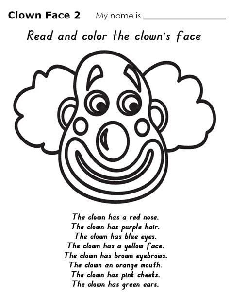 Clown Worksheets by Sad Coloring Page Printable
