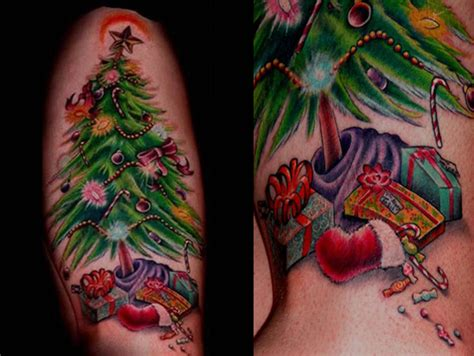 amazing christmas tattoos youll totally