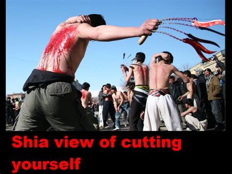 them selves shia cutting themselves self flagellation and tatbir