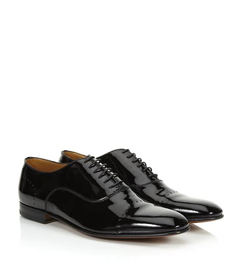 bally oxford shoes bally licio patent oxford shoe in black for lyst