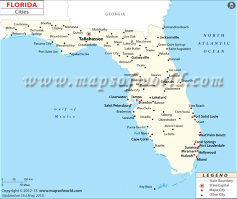 usa map with city names cities in florida florida cities fl map with cities