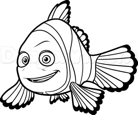 finding nemo coloring pages marlin how to draw marlin from finding dory step by step disney