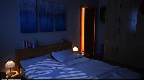 3d lighting and compositing artist bedroom scene night scene interior project night by luca valletta 3d artist