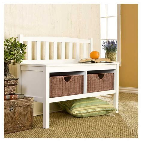 small hallway bench entryway storage small space simple home decoration