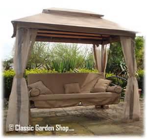 Patio Swing Gazebo Orlando Garden Patio Gazebo 3 4 Seater Swing Hammock Bench