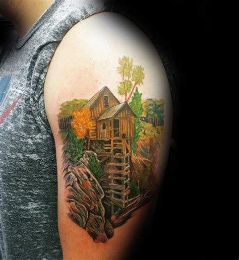 environmental tattoos 90 landscape tattoos for scenic design ideas