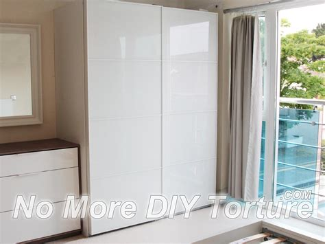 Pax Wardrobe Designer by Pax Farvik White Glass Door Wardrobe Deco Bedroom