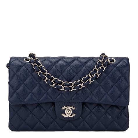 Chanel Flap chanel navy quilted caviar medium classic flap bag world s best