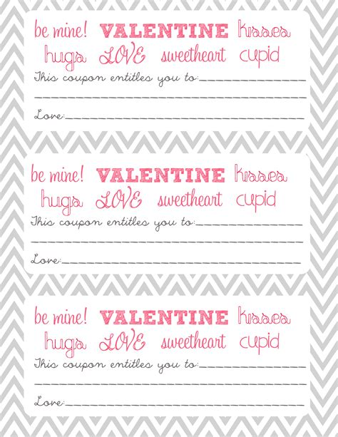 printable valentine s day coupon book template 26 images of printable template for valentine coupons