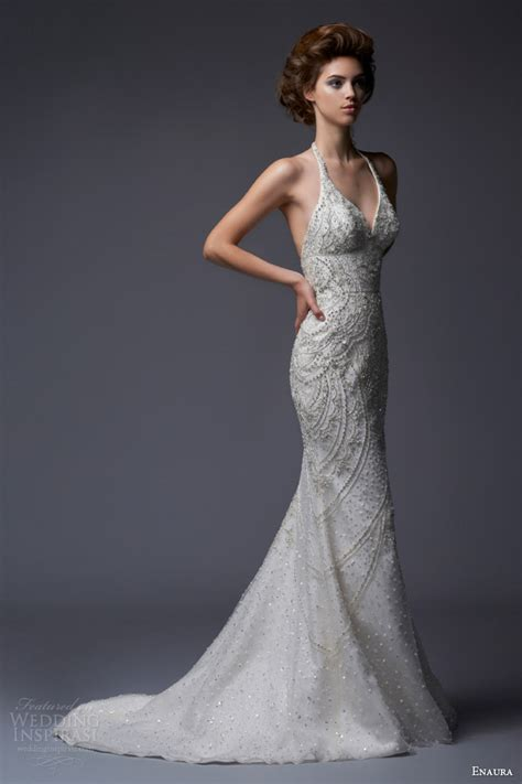 Halter Style Wedding Dresses by Enaura Bridal Fall 2013 Wedding Dresses Wedding Inspirasi