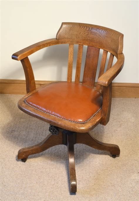 1930s Oak Swivel Chair Antiques Atlas Oak Swivel Chair