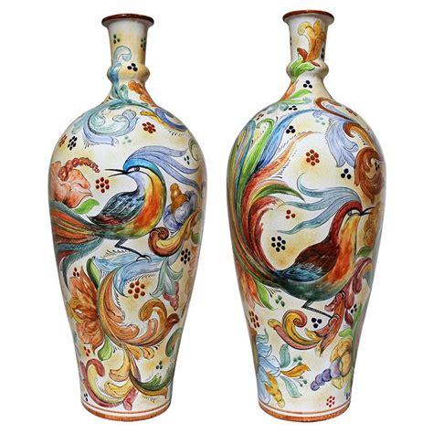 Majolica Vases by Santa Rosa Majolica Birds Of Paradisexl Majolica Vase