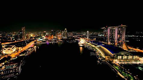 singapore time lapse marina bay area  night hd youtube