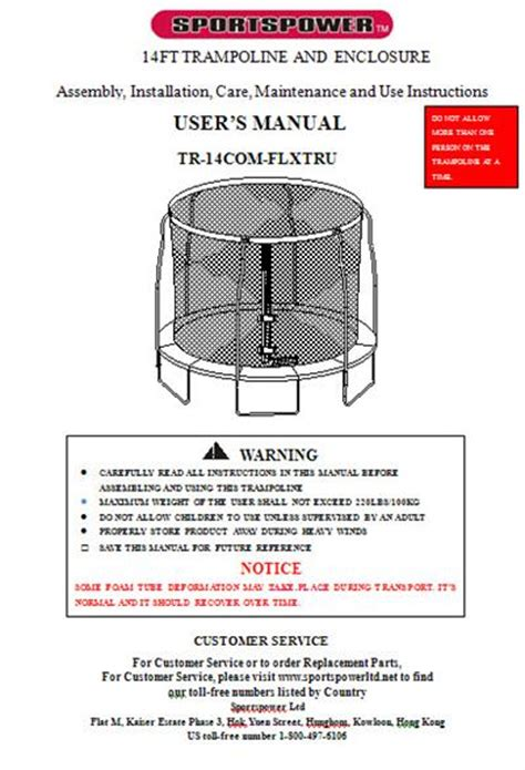 sportspower swing set manual manual for the 14 sportspower model tr 14com flxtru combo