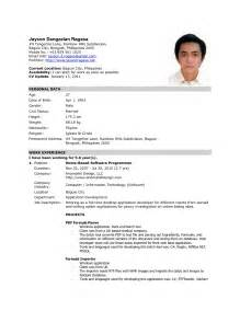 Exle Of Resume Applying For by Exles Of Resumes 8 Sle Curriculum Vitae For Application Pdf Basic Intended How To