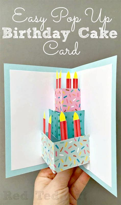 pop up birthday cards for 50 diy birthday cards for everyone in your