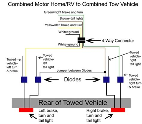 diode relay wiring diagram light isolating diode system with wiring harness tow bar wiring 38955