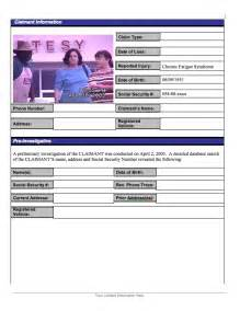 fraud investigation report template investigator agency forms investigator