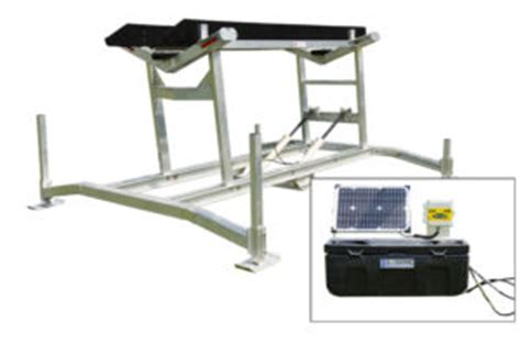 solar boat lift winch hydraulic boat lifts battery powered boat lifts r j