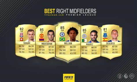 top right or right top fifa 17 premier league squad guide for fifa 17 ultimate team
